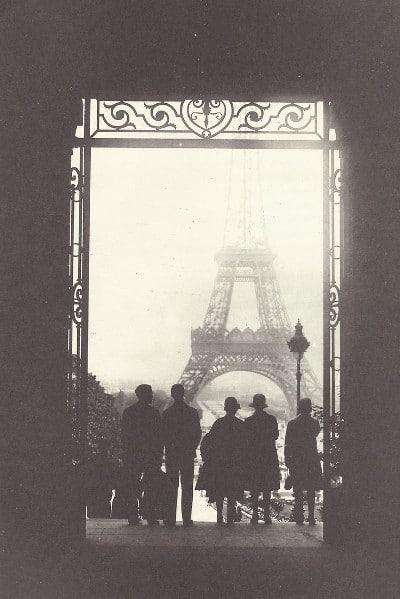 vintage photograph paris eiffel tower