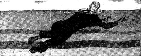 Vintage WWII swimming side stroke# 3 illustration.