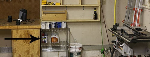 Garage small shelf.