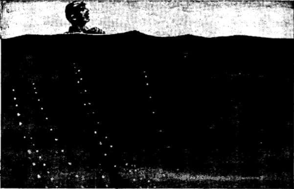 Vintage WWII submerging# 2 illustration.