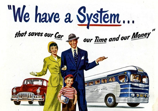 vintage 1950s travel family