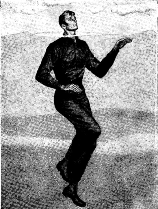 vintage wwii swimming illustration treading water