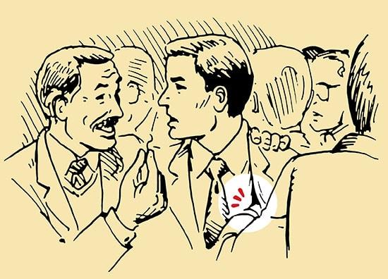Pickpocket trick illustration.