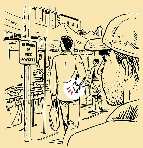 illustration pickpocket tricks strategy