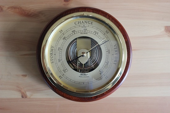 modern aneroid barometer reading