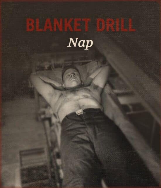 Blanket drill WWII slang.