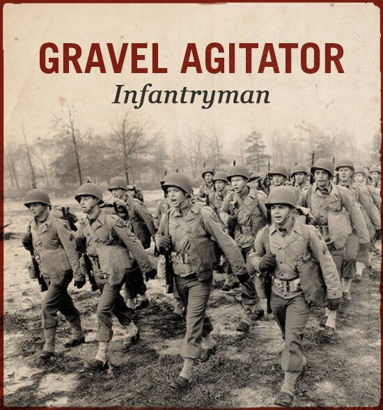 gravel agitator wwii slang world war ii infantryman