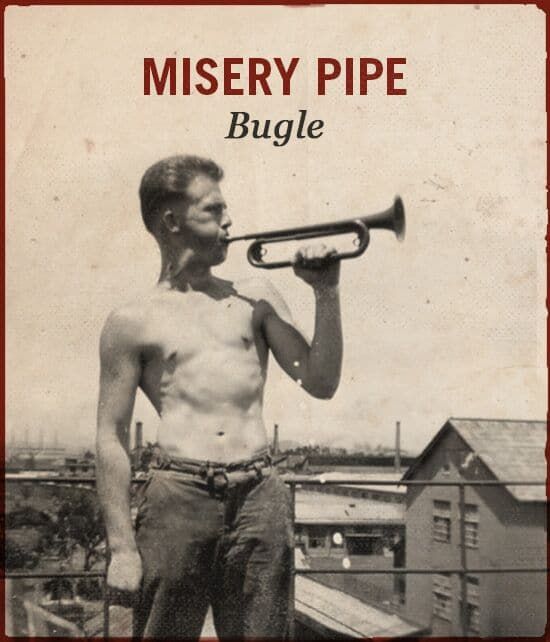 Misery pipe WWII slang bugle.