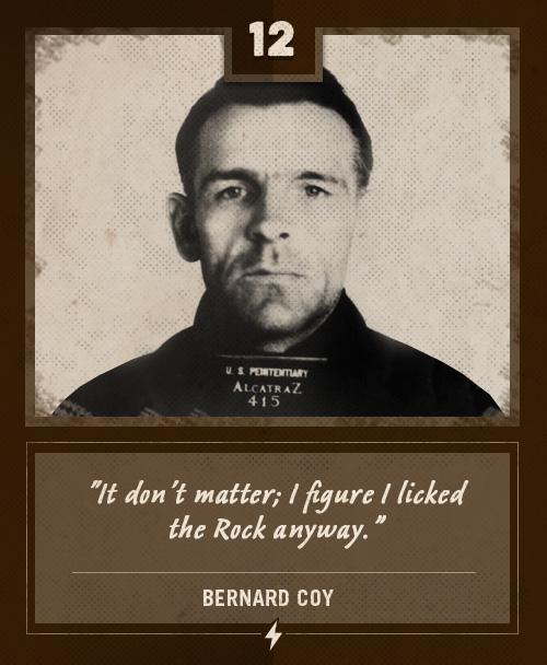bernard coy alcatraz prisoner last words