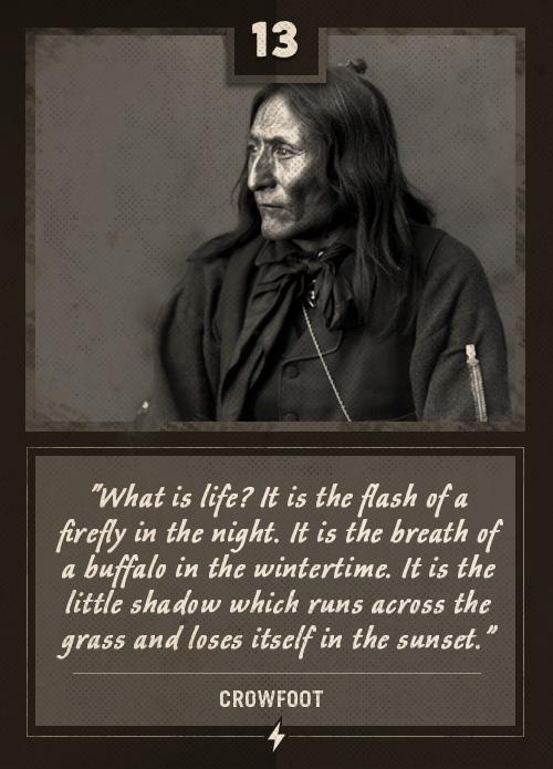 crowfoot native american last words