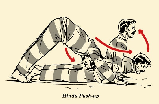 illustration, Hindu push-up, prisoner workout, bodyweight exercises, convict conditioning