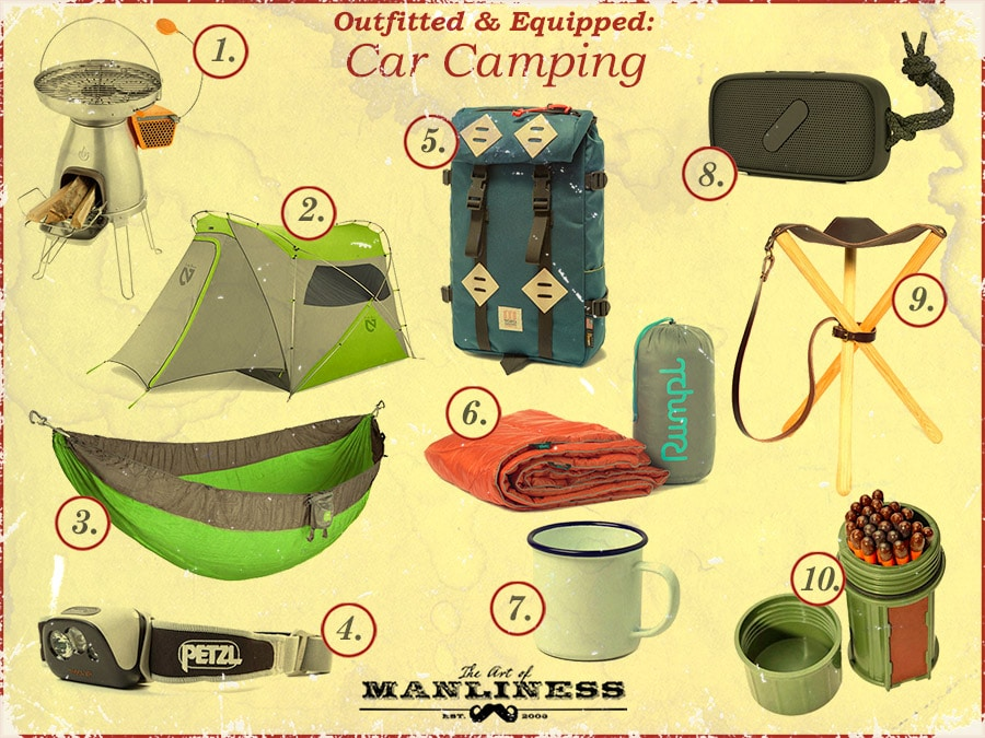 Outfitted & Equipped: Car Camping products banner.