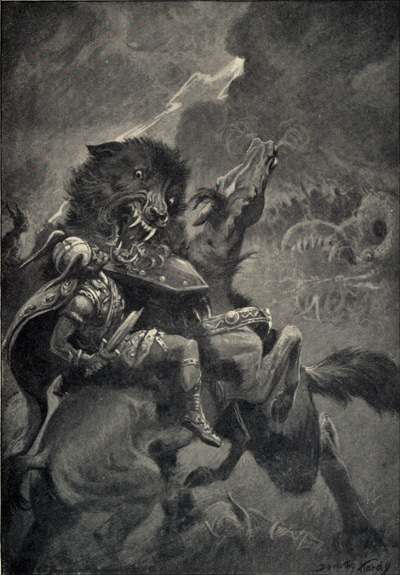 odin and fenrir