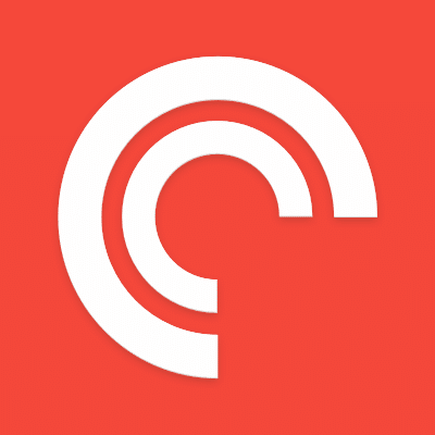 Pocketcasts logo.