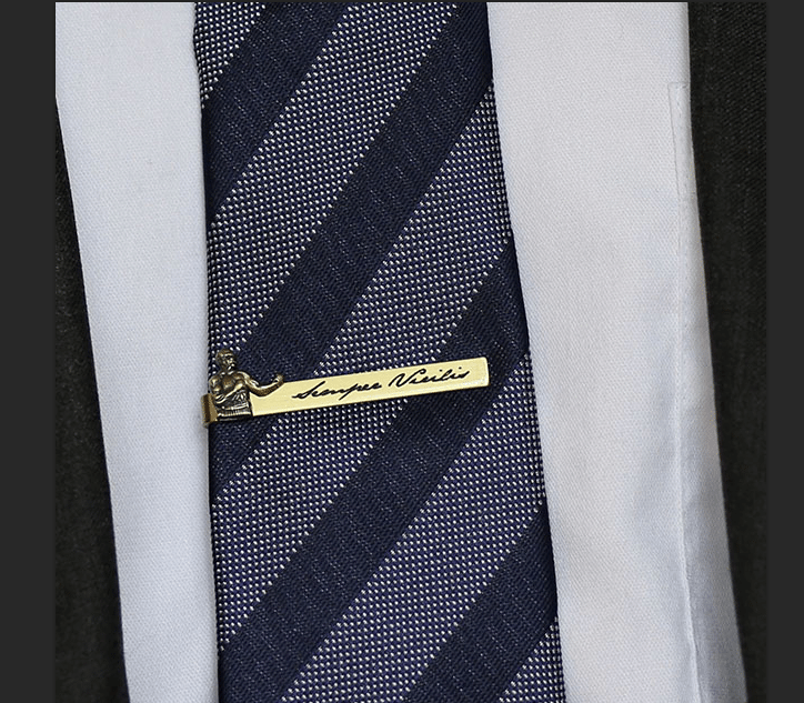 Art of Manliness tie bar Semper Virilis.