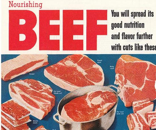 vintage 1950s beef ad