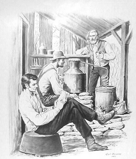 abraham lincoln reading store young man illustration