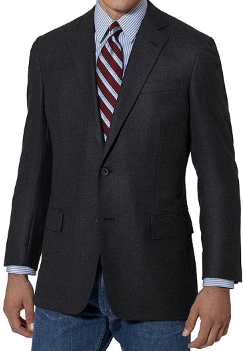 business mullet wrong suit jacket casual jeans