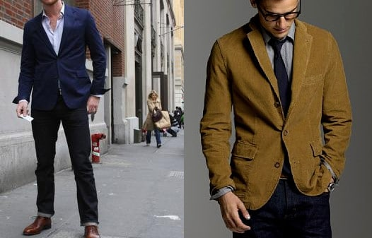 sport jacket coat color contrast