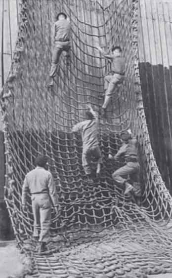 WWII 1940s fort benning army rangers cargo net