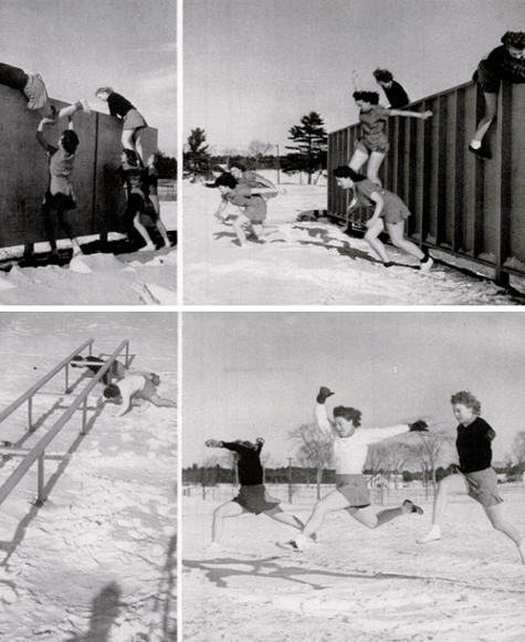 vintage 1940s wwii women obstacle course WAAC WAVES
