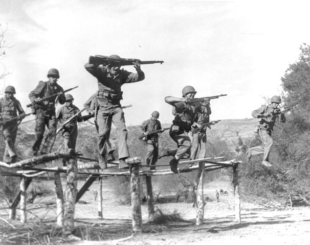Marines training.