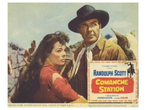 comanche station western movie poster