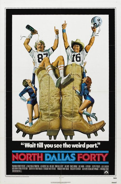 North Dallas Forty Poster Best Football movies Ever.