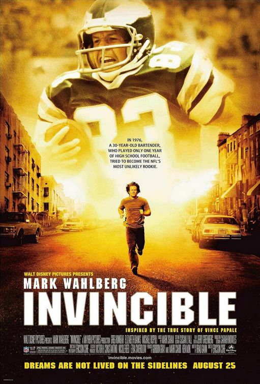 Invincible Mark Wahlberg Poster best Football Movies.