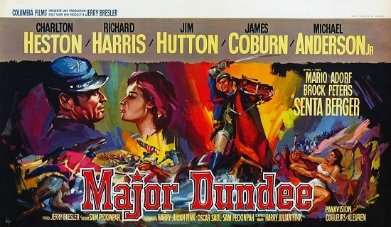 major dundee western movie poster charlton heston