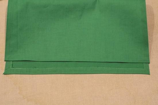 diy pocket square finished hem with iron-on tape