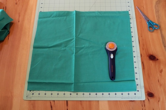 diy pocket square cut fabric rotary cutter