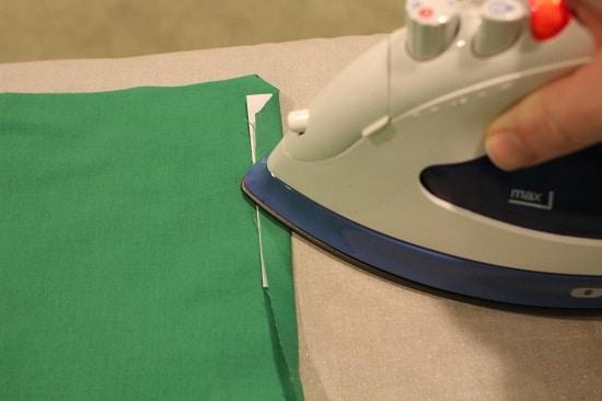diy pocket square iron crease for hems
