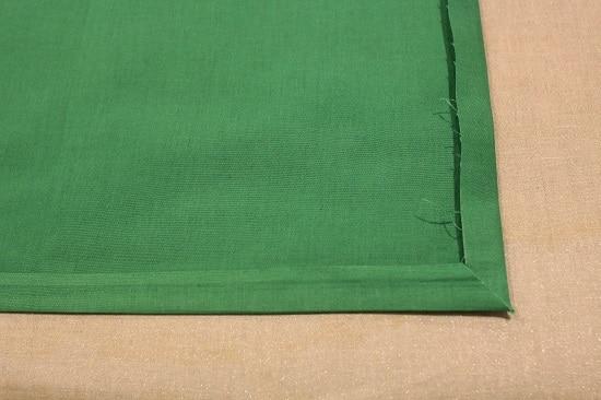 diy pocket square making corners with ironing