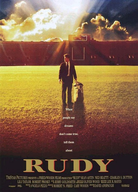 Rudy Poster Notre Dame best Football Movies.
