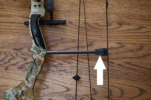 compond bow parts string vibration arrester