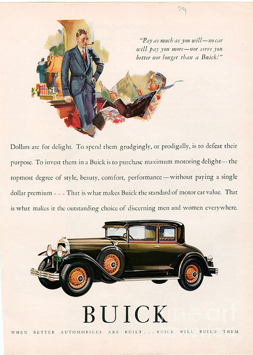 vintage buick car ad advertisement 1930s 1940s