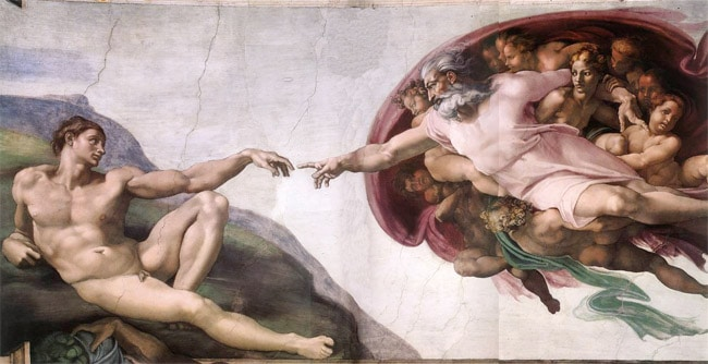Michelangelo god the father painting renaissance.