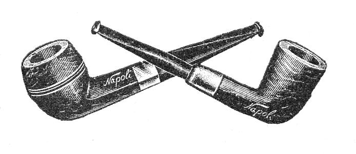 Napoli pipe illustration vintage ad advertisement.