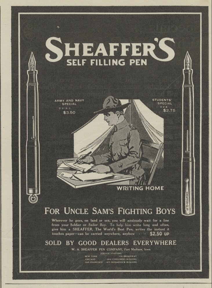 sheaffer self filling pen vintage ad advertisement