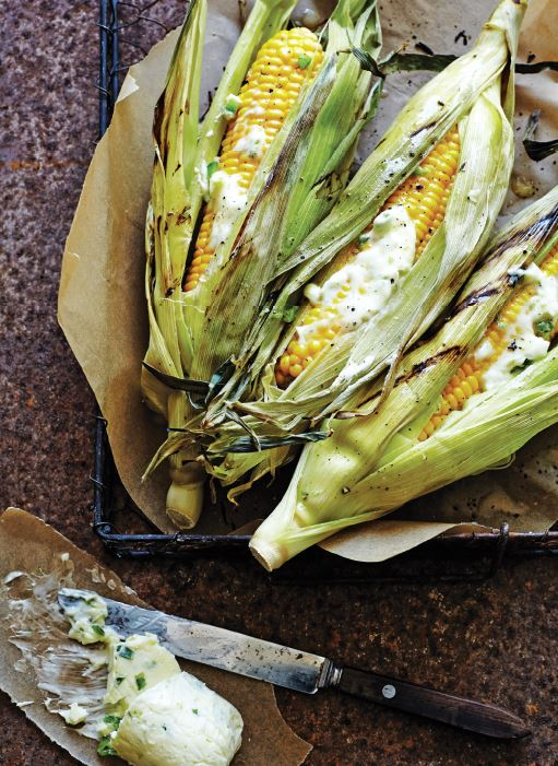 Grilled Corn and Tequila Lime Butter.