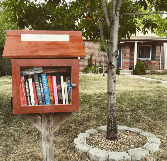 little free library front yard denver colorado