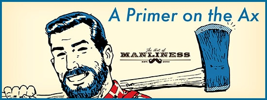 primer on the ax illustration bearded man