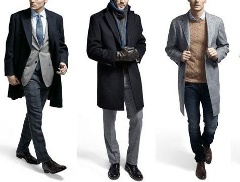 men's overcoat comparison jeans suit sweater