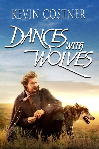 kevin costner dances with wolves western movie poster