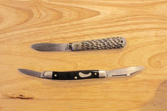 vintage antique pocketknives after restoration cleaning