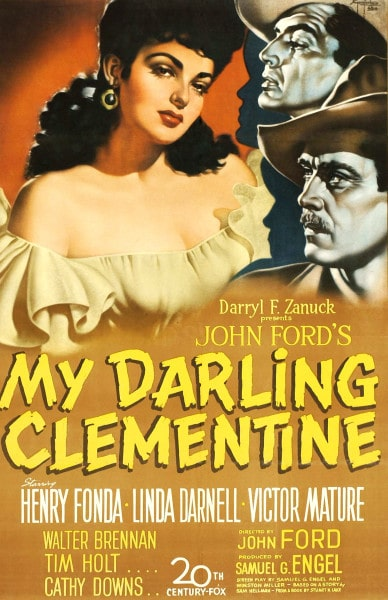 my darling clementine western movie poster john ford