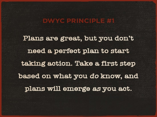 plans are great taking action motivational quote