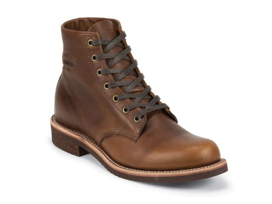 "Chippewa's 6"" Service Boot brown leather shoes"