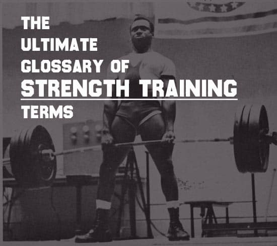 glossary of strength training terms man deadlifting